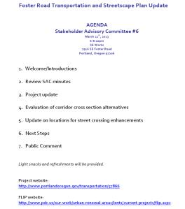 SAC Agenda, 3/21