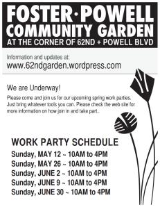 FoPo Community Garden Flier