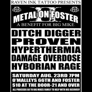 Metal on Foster 2 flyer