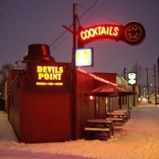Devil's Point in Snow