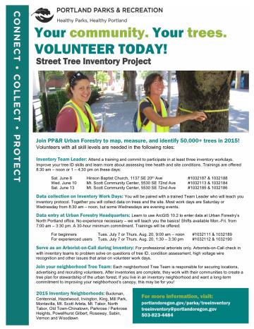 2015 volunteer opportunities flyer