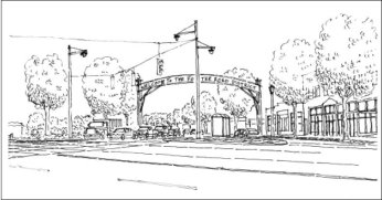Foster Road Banner:Streetscape